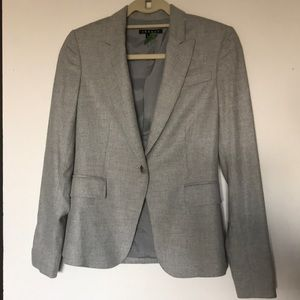 Theory Light Grey Wool Blend Suit Jacket - Size 0